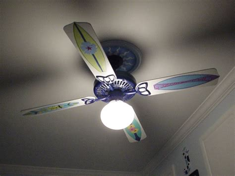 themed ceiling fans surf themed room ceiling fan i did it