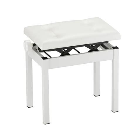 piano bench white korg pc 550 piano bench white at gear4music com
