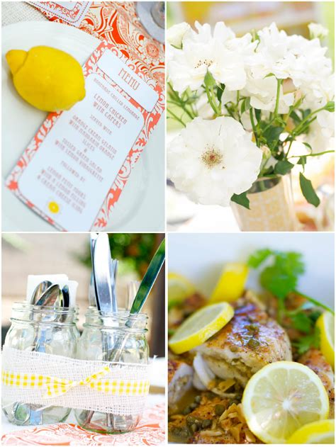 summer party ideas citrus themed summer party ideas citrus themed ladies luncheon party