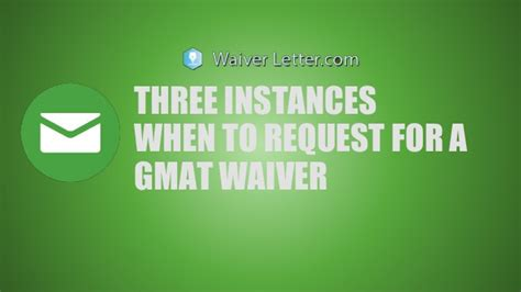 Belmont Mba Gmat Waiver by Three Instances When To Request For A Gmat Waiver