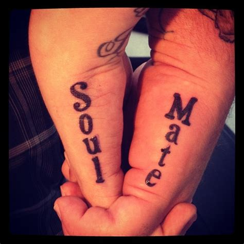 matching love quote tattoos for couples couples w my my soul mate my style