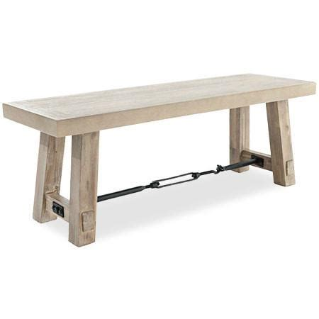 big sur bench big sur dining bench stonewashed acacia wood canvas