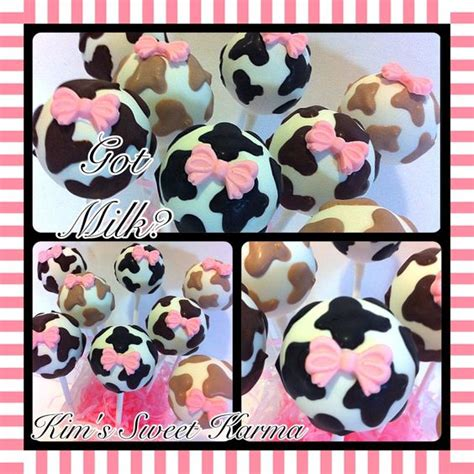 Cow Themed Baby Shower by Quot Got Milk Quot Cow Themed Baby Shower Cake Pops Https Www