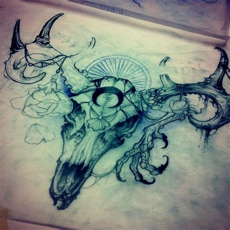 longhorn skull tattoo designs longhorn tattoos designs