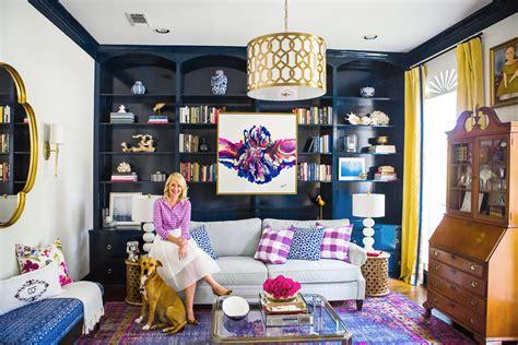 navy yellow living room one room challenge fall 2015 reveals decoratorsbest