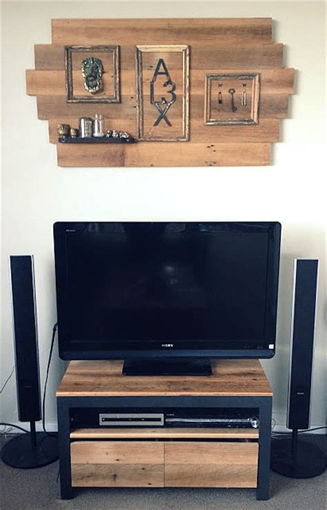 wooden tv stand small modern and cool wood with white also party junk 202 cool diy tv standsfunky junk interiors