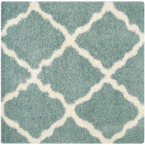 seafoam rug safavieh dallas shag seafoam ivory 6 ft x 6 ft square area rug sgd257c 6sq the home depot