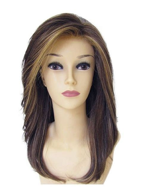 in front medium haircuts synthetic long lush below the shoulder length styles front