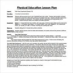 Physical Education Lesson Plan Template   Template Design