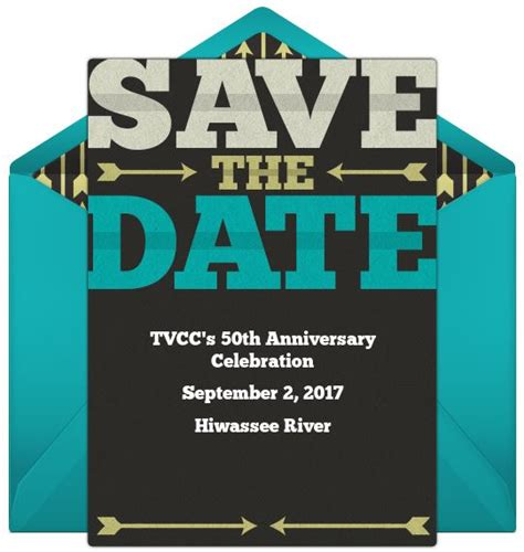 Tvcc Is Turning 50 Tvcc Birthday Save The Date Templates Free