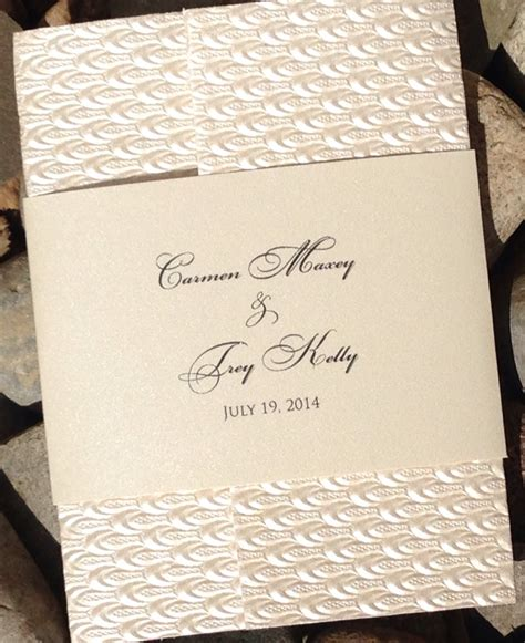 Handmade Paper Invitations - embossed wedding invitation embossed bridal shower