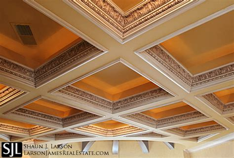 fancy ceilings coffered ceilings in luxury homes