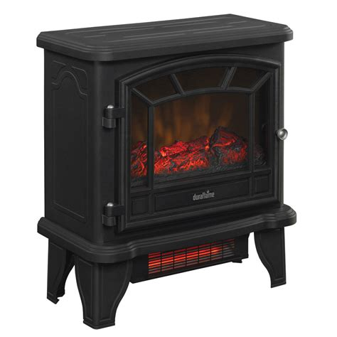 duraflame electric fireplace heater duraflame 550 black infrared freestanding electric
