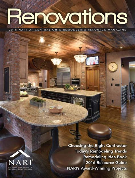 home the remodeling and design resource magazine 2016 nari of central ohio remodeling resource magazine by