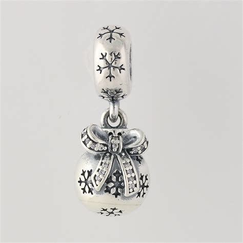 pandora christmas ornament dangle bead 791410cz sterling