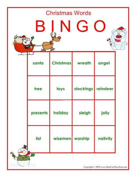 christmas tree bingo printable 17 best images about christmas games on pinterest bingo