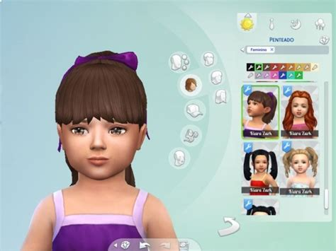 sims 4 ponytails with bangs high ponytail with bangs for toddlers at my stuff 187 sims 4