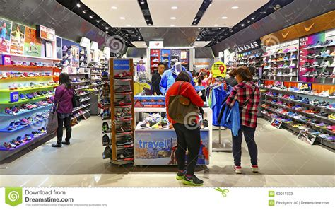 sports shoes store editorial stock photo image of brands