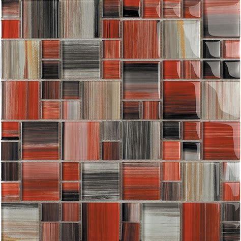 red tile backsplash kitchen epoch architectural surfaces contempo abbott 1675 mosaic