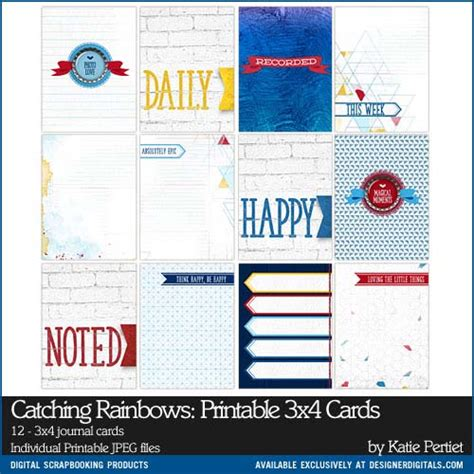 3x4 cards template catching rainbows printable 3x4 cards pertiet