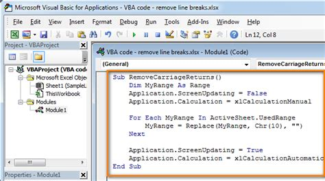 coding visual basic exles insert and run vba macros in excel 2010 2013 step by