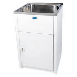 Bathroom Sinks Bunnings Everhard 45l Nugleam Laundry Trough And Cabinet Ebay