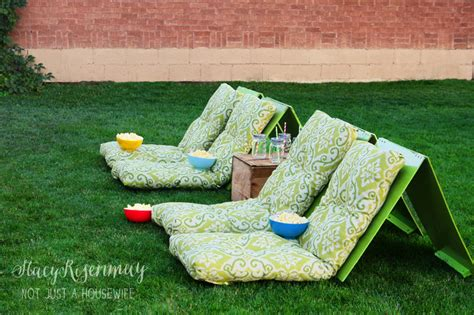 backyard the movie outdoor movie theater seating not just a housewife