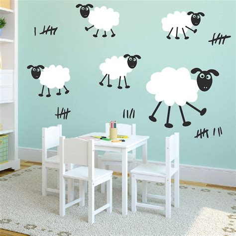 sheep wall stickers happy sheep wall decals trendy wall designs