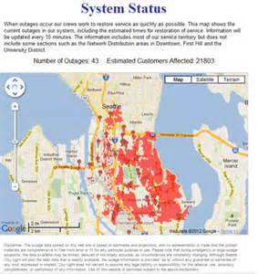 Seattle City Light Outage Map 28 000 customers lose power in seattle www kirotv com