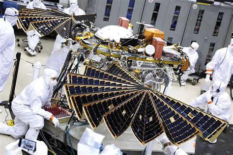 lockheed martin solar panel delicate solar panels of martian lander are tested before