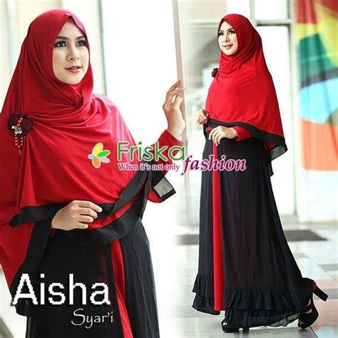 Gamis Aisha 1 aisha hitam merah baju muslim gamis modern