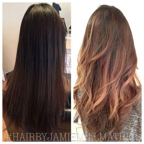 wash hair after balayage highlights hair color before and after balayage hair color caramel