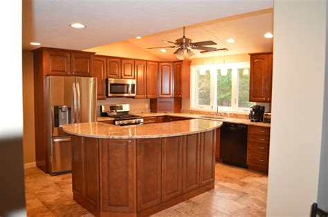 2 tier kitchen island kitchen remodel with two tier island traditional kitchen boston by attleboro kitchen and
