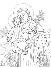 St Of Lima Coloring Page coloriage antoine de padoue coloriages 224