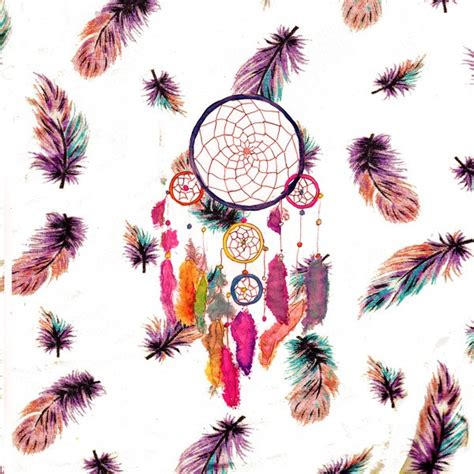 girly hipster wallpaper hipster watercolor dreamcatcher feathers pattern art print
