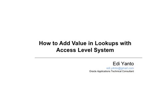 How To Add Value To How To Add Value In Lookups With Access Level System