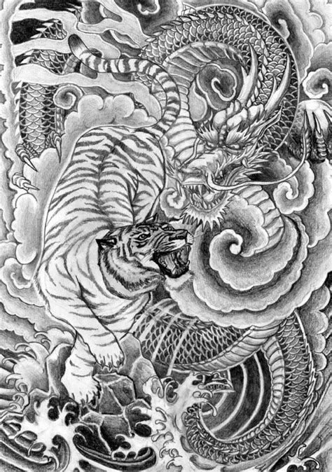 dragon tiger tattoo designs tattoo design and art