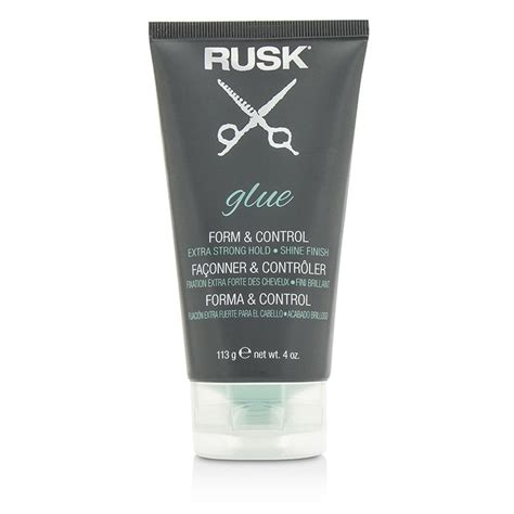 rusk haircutting techniques rusk glue form control extra strong hold shine finish