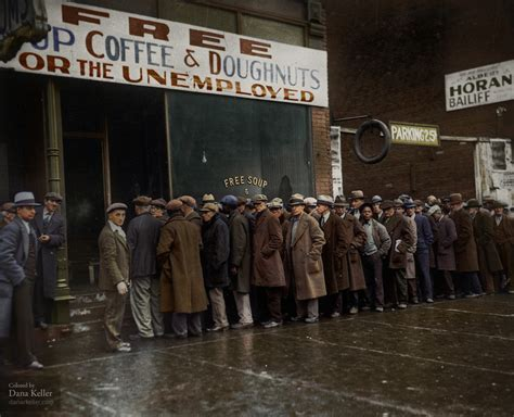 Soup Kitchen Great Depression by History In Color