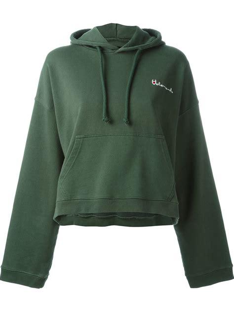 in hoodie vetements reversible hoodie in green lyst
