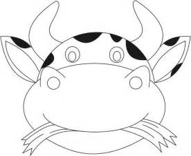 cow mask template cow mask printable coloring page for