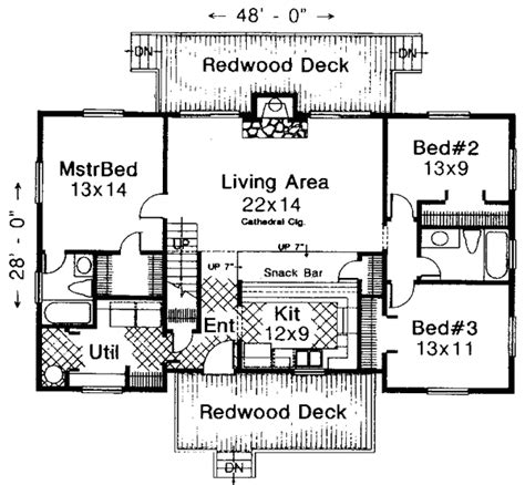 Small Mountain Cabin Floor Plans by Sturgeon Bay Mountain Cabin Home Plan 036d 0045 House
