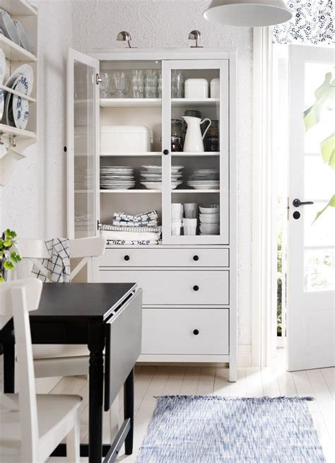 hemnes white stained glass door cabinet with 3 drawers hygge house dining room