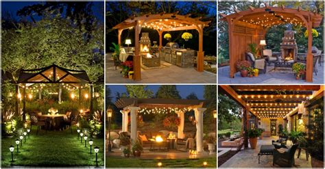 romantic and cozy atmosphere under a pergola i love the pergola string lights set a romantic mood in your backyard