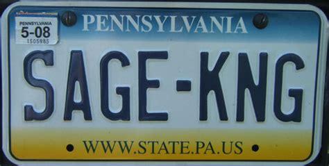 pennsylvania license plates