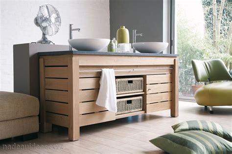 meuble salle de bain couleur bois naturel peinture