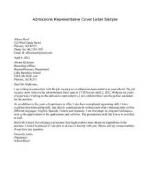 Cover Letter For Admission by Cover Letter For Admissions Representative Business Plan Buyout