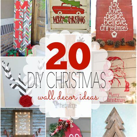 20 diy christmas wall decor ideas the diy village