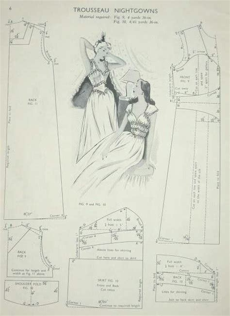 vintage nightdress pattern vintage nightgown pattern sewing inspiration pinterest