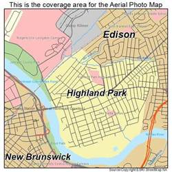 aerial photography map of highland park nj new jersey